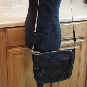 Latico Black Leather Crossbody